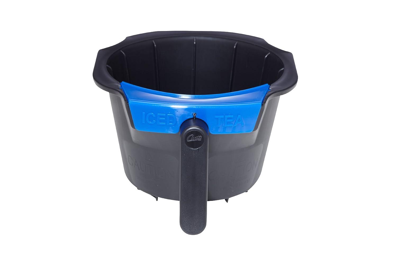 Wilbur Curtis Standard Black, Non-Metallic, Tea Logo With Splash Guard - Commercial-Grade Brew Basket - WC-3398 (Each)