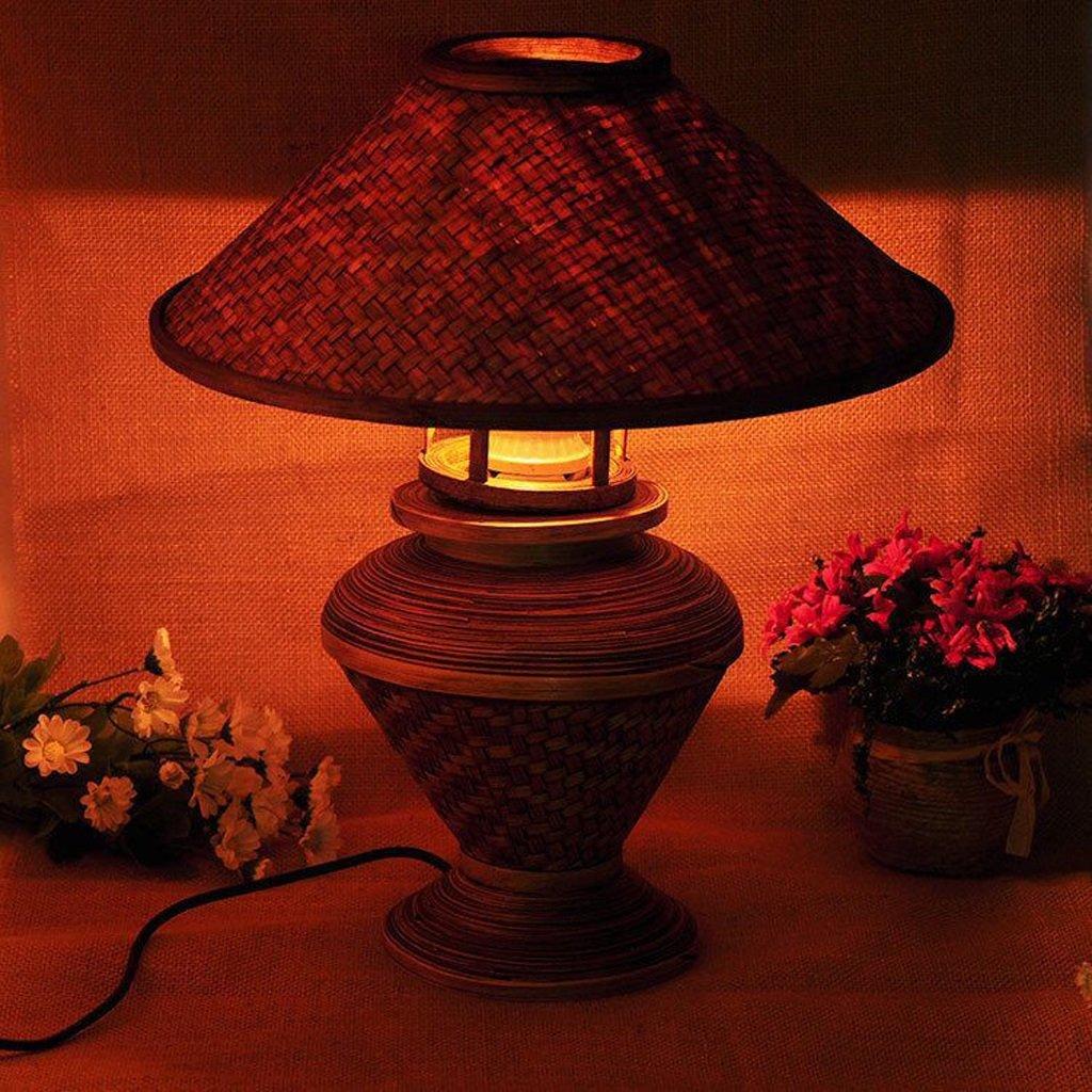 ASL Schreibtischlampe Wooden Bamboo Lampe Wohnzimmer Schlafzimmer Tischlampe
