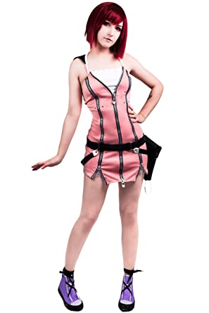 Amazon.com  DAZCOS US Size Kairi Women's Cosplay Costume Pink  Clothing dd523af6fa5e