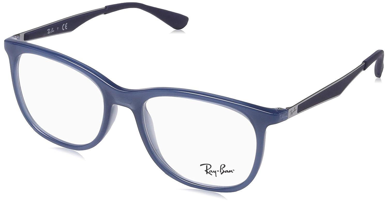 6f4c6abf45 Ray-Ban 0Rx7078, Monturas de Gafas para Hombre, Transparente Light Blue, 53