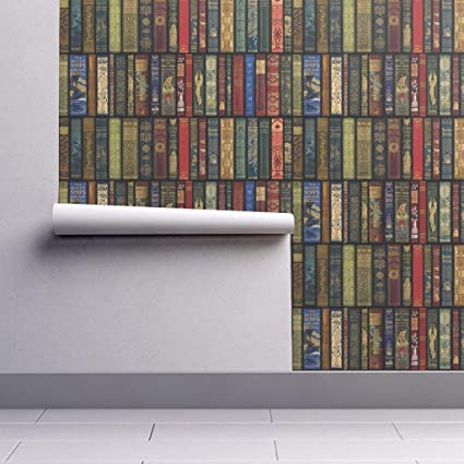 Peel-and-Stick Removable Wallpaper - Books Literature Book Books Library Bookcase Photographic Book