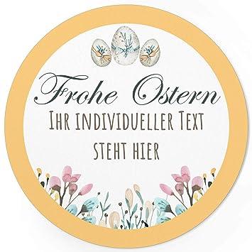 24 Individuelle Runde Etiketten Für Ostern Selber Gestalten Personalisierte Aufkleber Für Frohe Ostern Geschenke Ostereier Hase Für Namen