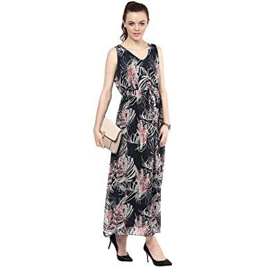 Scarlet Ross Palm Print Maxi Dress For Girls And Womens At Amazon