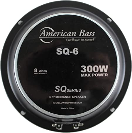6.5 Midrange Bullet Speaker 300W 8 Ohm Pro Car Audio American Bass SQ-6B