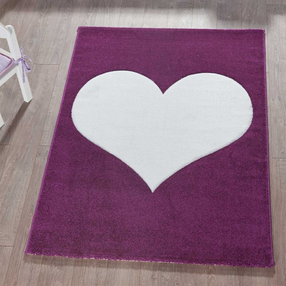 Pharao24 Teppich mit Herz Kinderzimmer