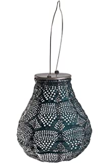 Allsop Home U0026 Garden Soji Stella Ink Wave Bulb LED Outdoor Solar Lantern,  Handmade With