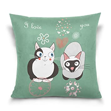 Amazon.com: Azul Viper tema Animal lindo Pareja Gatos ...