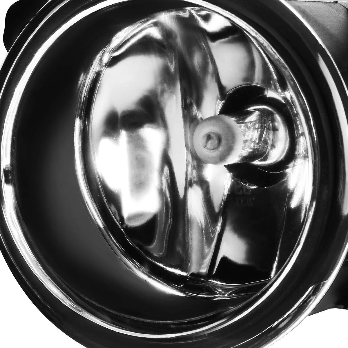 Driver /& Passenger Side DNA MOTORING Clear FL-ZTL-135-CH Fog Light Assembly
