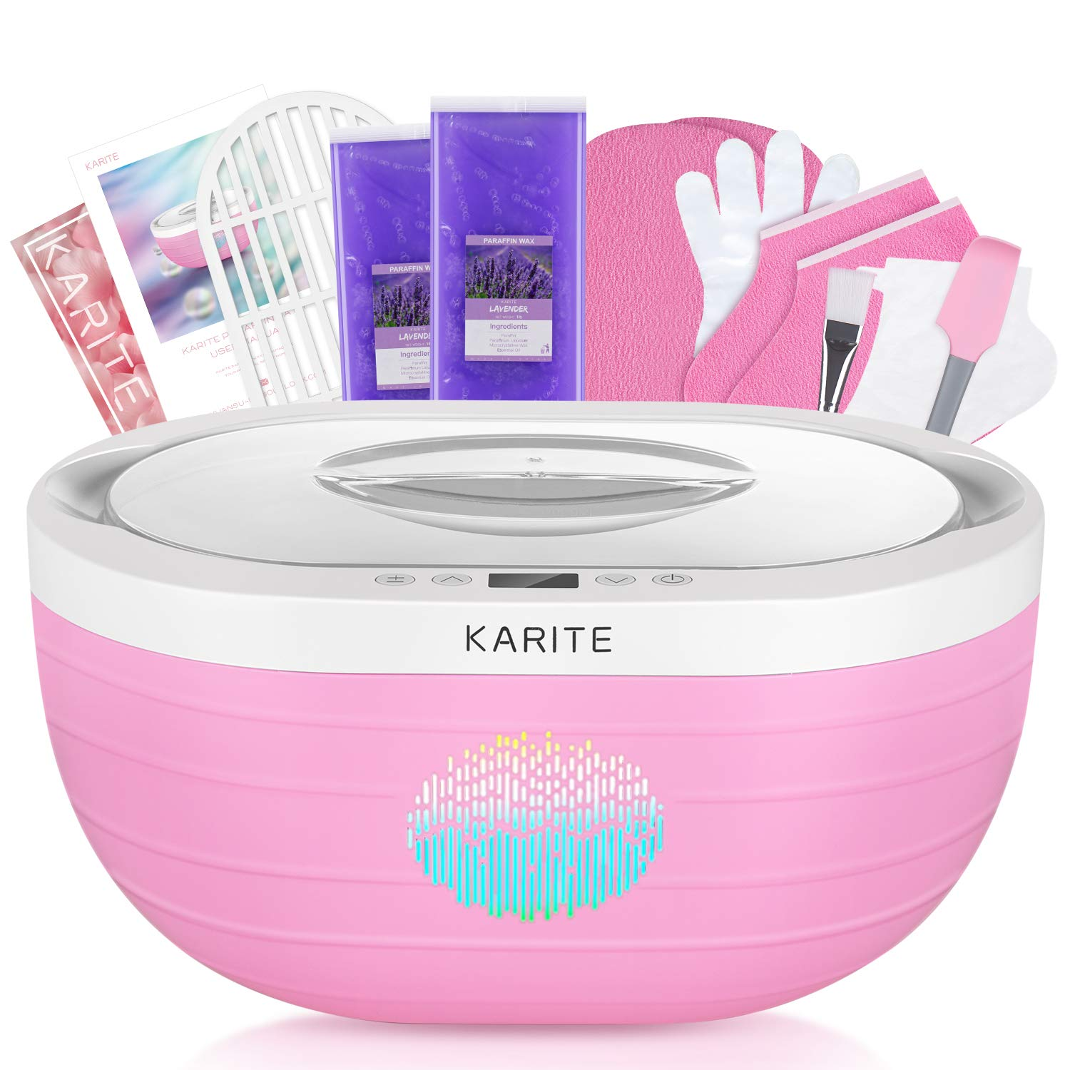 KARITE Paraffin Wax Machine for Hand and Feet, Fast Wax Meltdown Paraffin Bath, 3000ml Large Capacity Paraffin Wax Warmer with 2lb Paraffin Wax Refills & Thermal Mitts for SPA & Arthritis Treatment: Beauty