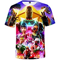 OLIPHEE T-Shirts Jeu Vidéo Enfant Unisexe Sportswear Inspiré de Fortnite