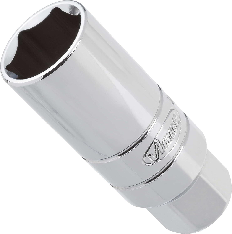 Vigor Innenvierkant Antrieb 10 = 3/8 Zoll Zündkerzen-Einsatz für Außensechskant-Profil Schlüsselweite: 21 ∙ Gesamtlänge: 66 mm 1 Stück V2120