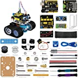 keyestudio Smart Robot Car Kit for Arduino Project with UNO R3 STEM Education, Ultrasonic Sensor, Bluetooth Module Toy Car w/tutorial