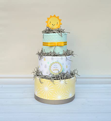 Diaper Cake In You Are My Sunshine Theme Gender Neutral