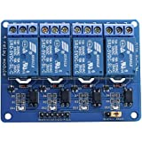 Elegoo Relay Module 4 Channel DC 5V with Optocoupler for Arduino UNO R3 Kit MEGA 2560 Project 1280 DSP ARM PIC AVR STM32 Raspberry Pi Arduino Relay