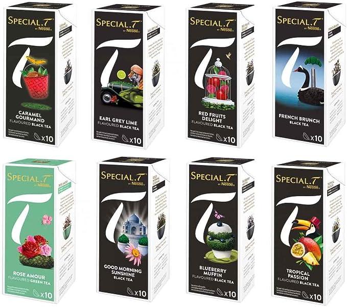 Nestle Special T Collection Creations Pour Appareil Nestle The Lot De 8 Boites 10 Capsules Chaque Boite Amazon Fr Epicerie