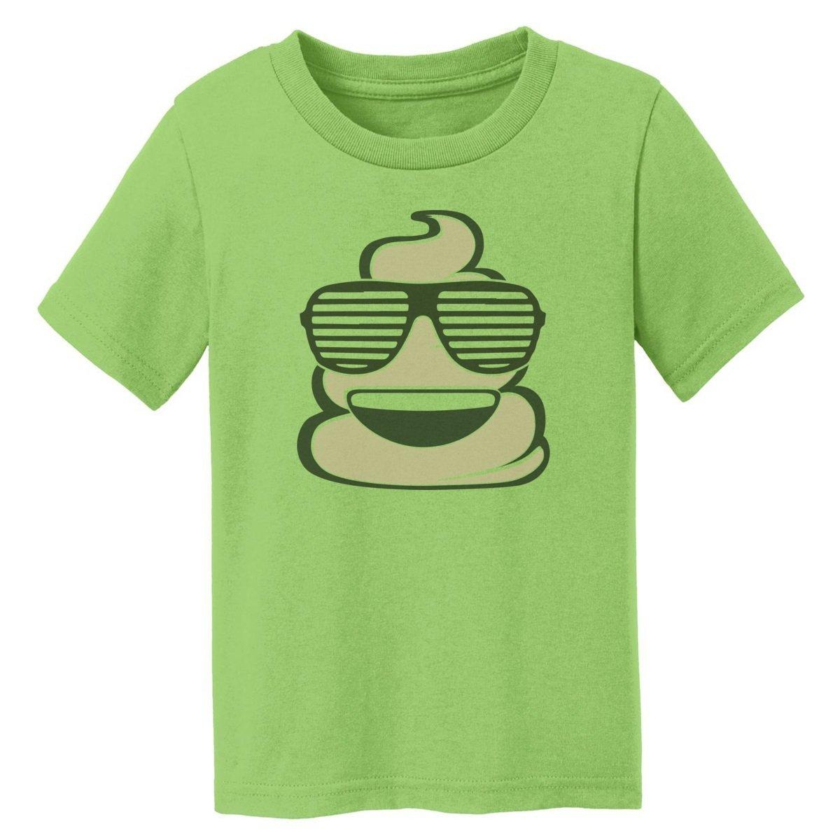 Digital T-Shirt Shop Baby-girls Cool Emoji Poop with Sunglasses