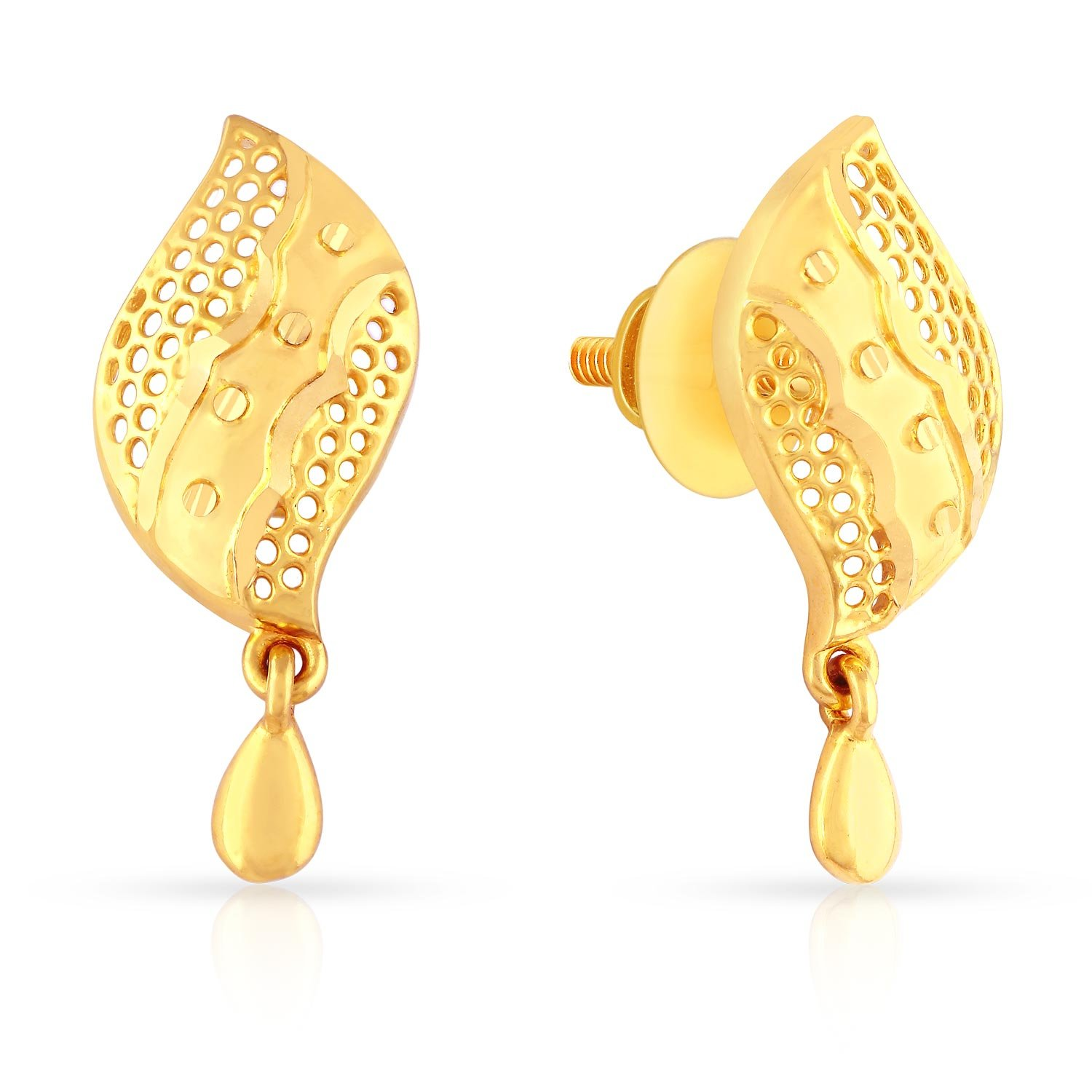 Yellow diamond earrings drop