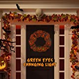 ACHOM Halloween Outdoor Decoration, Pumpkin Wreath with LED Light for Tree Lawn Party Home, Hunted House, Scary Creepy…