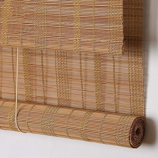 ZAQ - Pantalla Enrollable para Puerta corredera (bambú, 65 cm x 75 cm x 85 cm): Amazon.es: Hogar