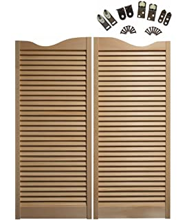 Amazon pinecroft 848042 carson city caf interior swing wood saloon cafe doors premade for any 30 finished opening 42 tall doors planetlyrics Gallery
