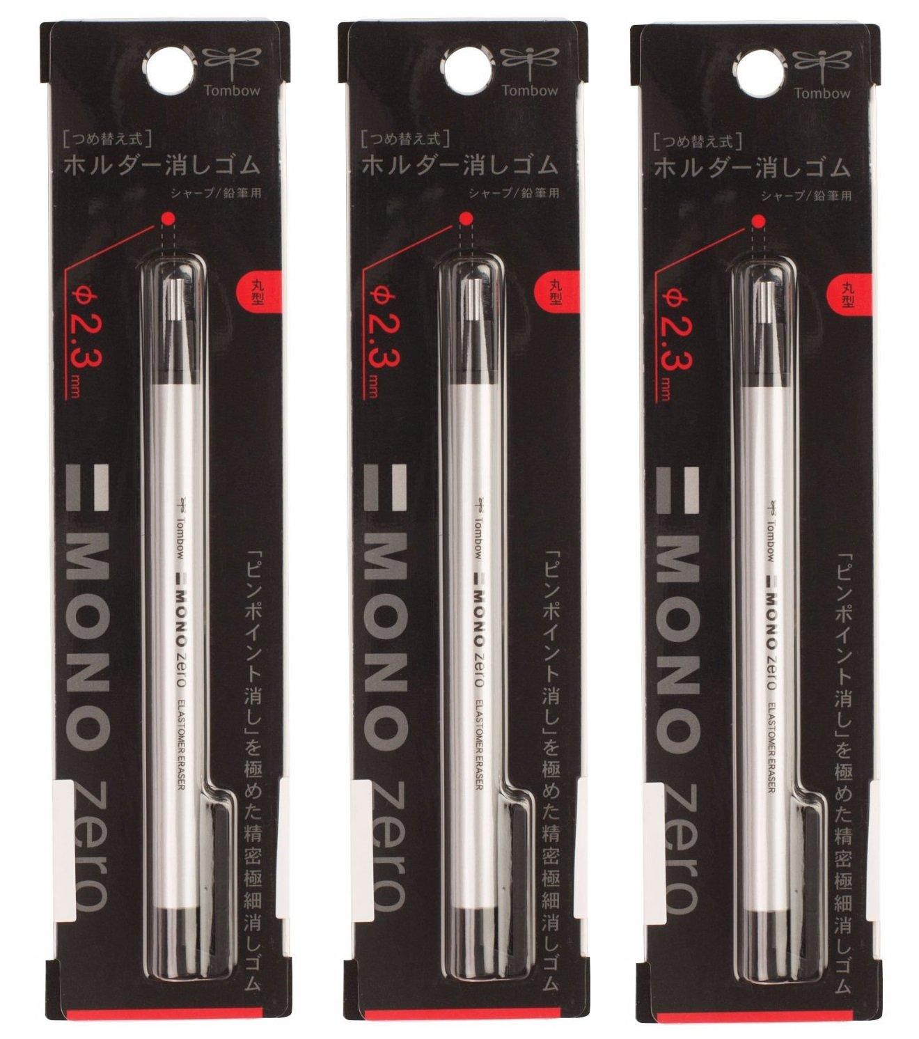 Tombow MONO Zero Eraser, Round 2.3 mm x 3