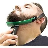 Aberlite Beard Shaper - FlexShaper Neckline Guide - Hands-Free & Flexible - The Ultimate Neckline Beard Shaping Template (Patent Pending)(Green)- Beard Trimmer Guide - Lineup Stencil Kit