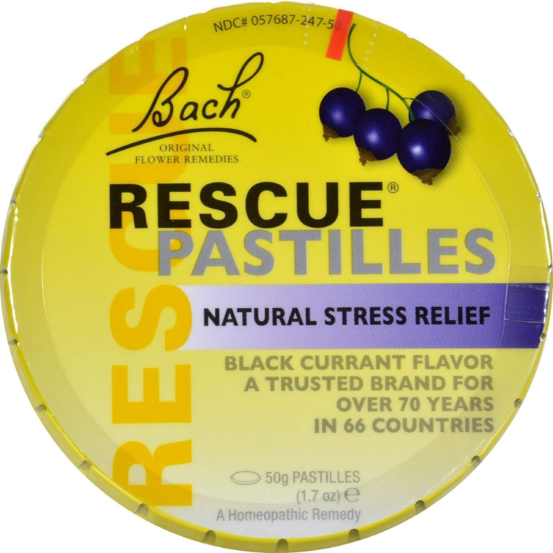 2Pack! Bach Flower Remedies Rescue Pastilles Black Currant - 1.7 oz - Case of 12