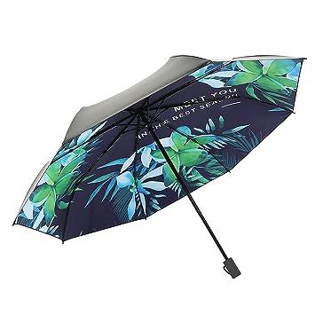 Mini Paraguas Solar de Protección UV Portátil, Paraguas de Golf Plegable Irrompible del Recorrido Para