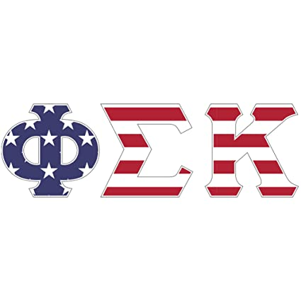 Amazon Phi Sigma Kappa Usa Letter Sticker Decal Greek 2 Inches