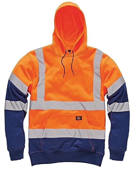 Dickies - Sudadera con capucha de trabajo para hombre, alta visibilidad, 2 tonos: Amazon.es: Ropa y accesorios