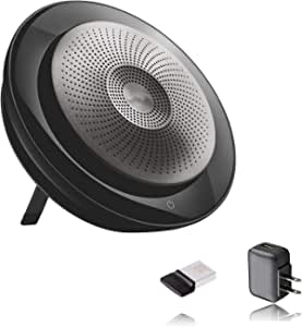 Jabra Speak 710 Speaker Phone - Unified Communications Certified Portable Conference Speaker with Bluetooth Adapter and USB - Connect with Laptops, Smartphones and Tablets, Black