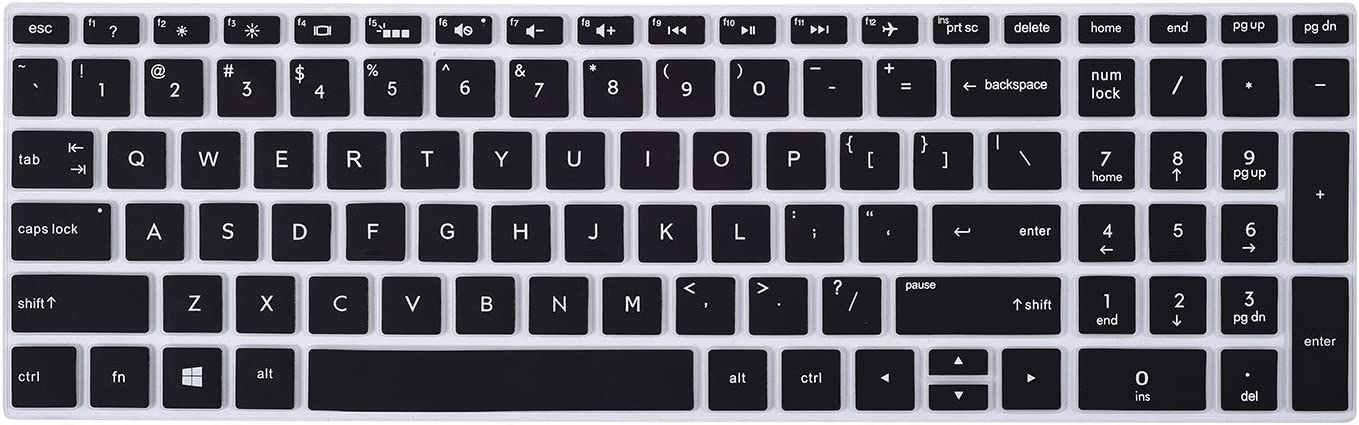 "Keyboard Cover for HP 17.3 Inch Laptop, HP 17.3"" FHD IPS Business Gaming Laptop, HP Envy 17t Touch, HP Envy 17M-AE111DX 17M-AE011DX 17-BS049DX 17-BS010NR, Black"