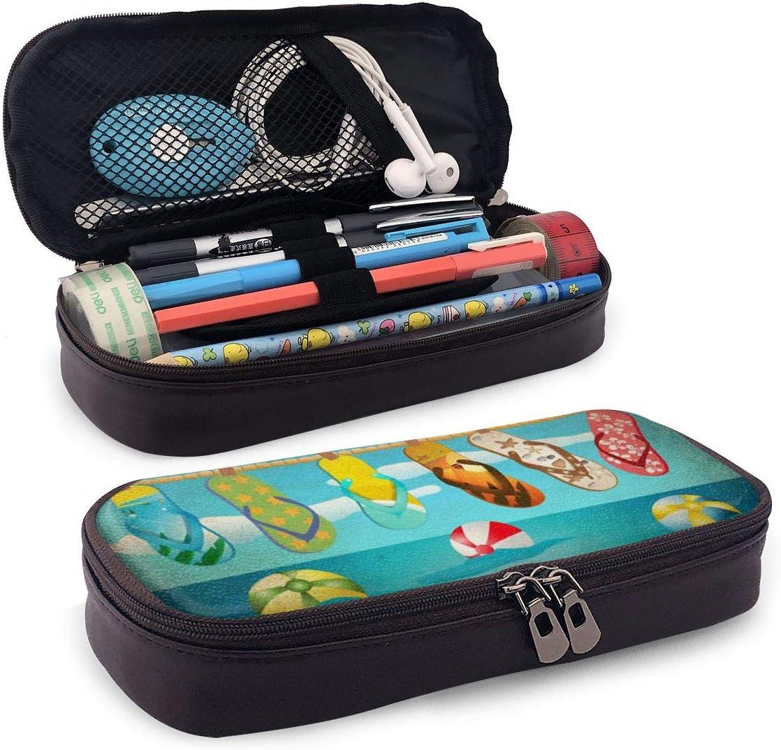 NewTe - Estuche de Piel para lápices, diseño de Zapatillas, Color Negro, Piel sintética, Negro, Talla única: Amazon.es: Hogar