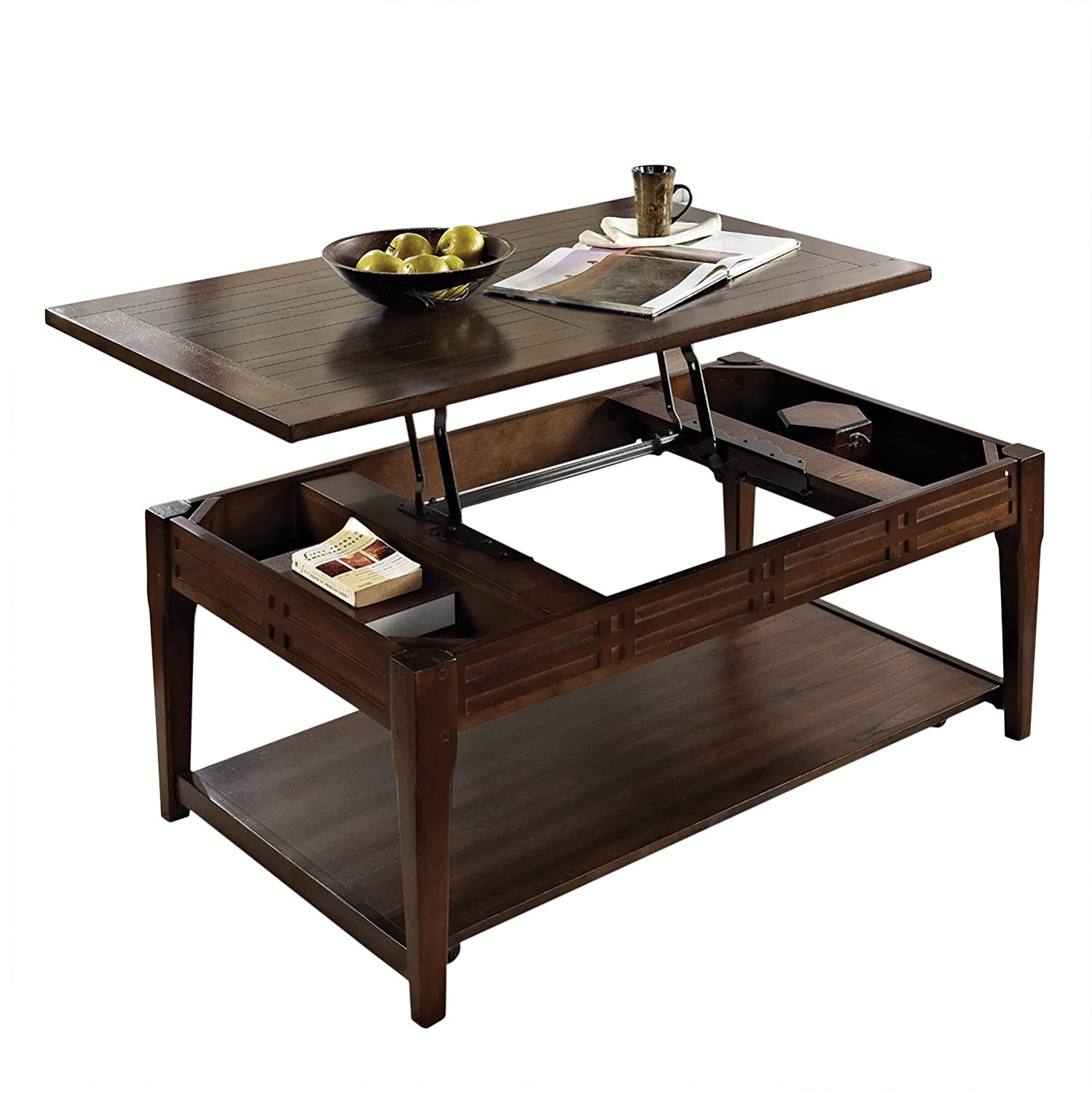 Amazon Lift top Coffee Table in Cherry Finish with Storage