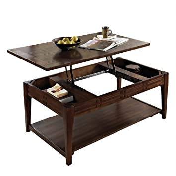 Steve Silver Company Crestline Lift Top Cocktail Table With Casters