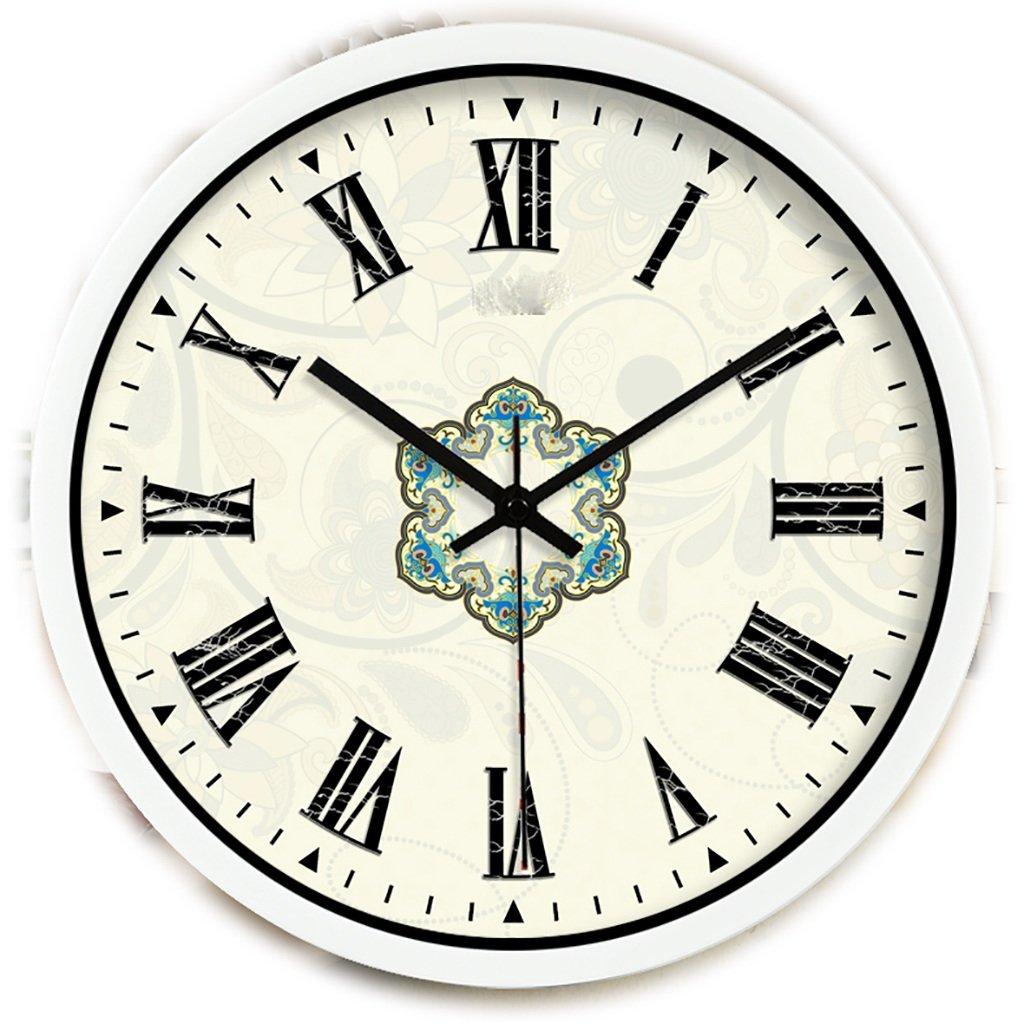 デコレーションサイレントベルクォーツ時計ローマイノベーションヨーロッパ時計バロックウォールクロックホテルメタルクロック (色 : B, サイズ さいず : 14inch) B07F616QDX 14inch B B 14inch