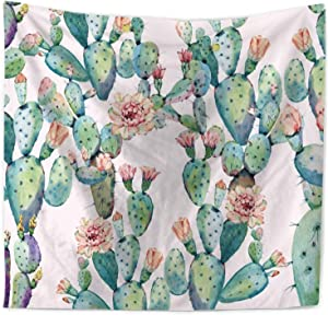 """ECONIE Cactus Tapestry Bohemian Mandala Wall Hanging Tapestry Wall Art Decor, Beach Throw Table Runner/Cloth 51"""" x 60""""Inches (11)…"""