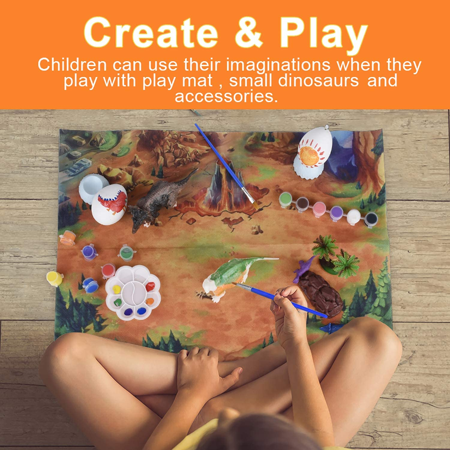 TITAIN GINDO Painting Your own Dinosaurs|Kids Dinosaurs Toys Art and Craft|Dinosaurs Art Supplies for Kids|Dinosaurs Kids Art Supplies Dinosaurs Crafts for Kids Age 3 4 5 6 7 8