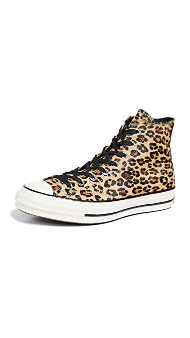 5bd4bd6048c Converse Men's CT70 Varsity Remix High Top Sneakers, Camel Leopard, Tan,  Print,
