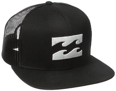 8d35e7ed9a4fec ... sale billabong mens all day adjustable snapback trucker hat black white  one size 71652 74de9