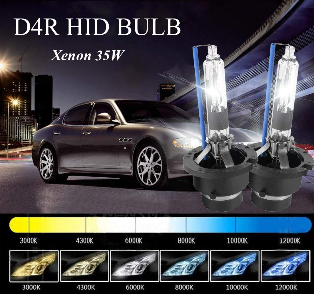 Litech D2S HID Xenon Headlight Replacement Bulb 6000k 35w 85122 Super Bright Pair