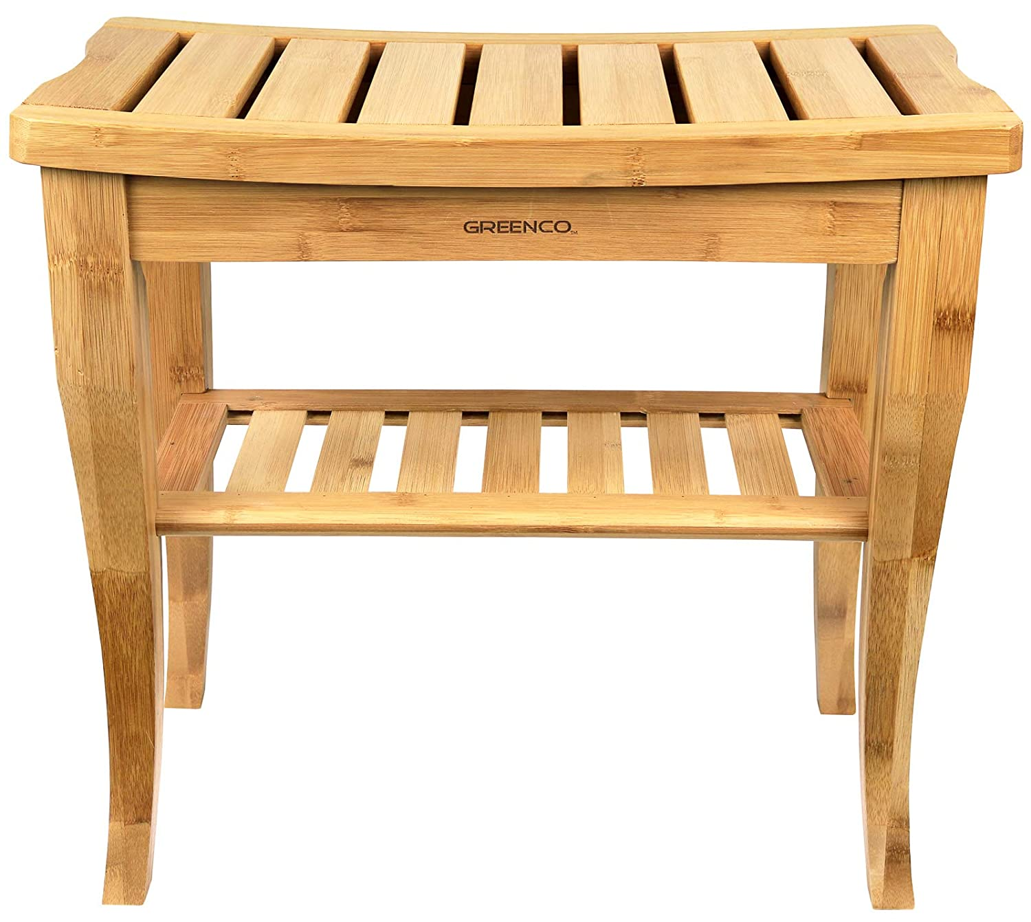 Wondrous Details About Greenco Waterproof Bamboo Shower Bench With Shelf Wooden Spa Bath Stool Indoor Pdpeps Interior Chair Design Pdpepsorg