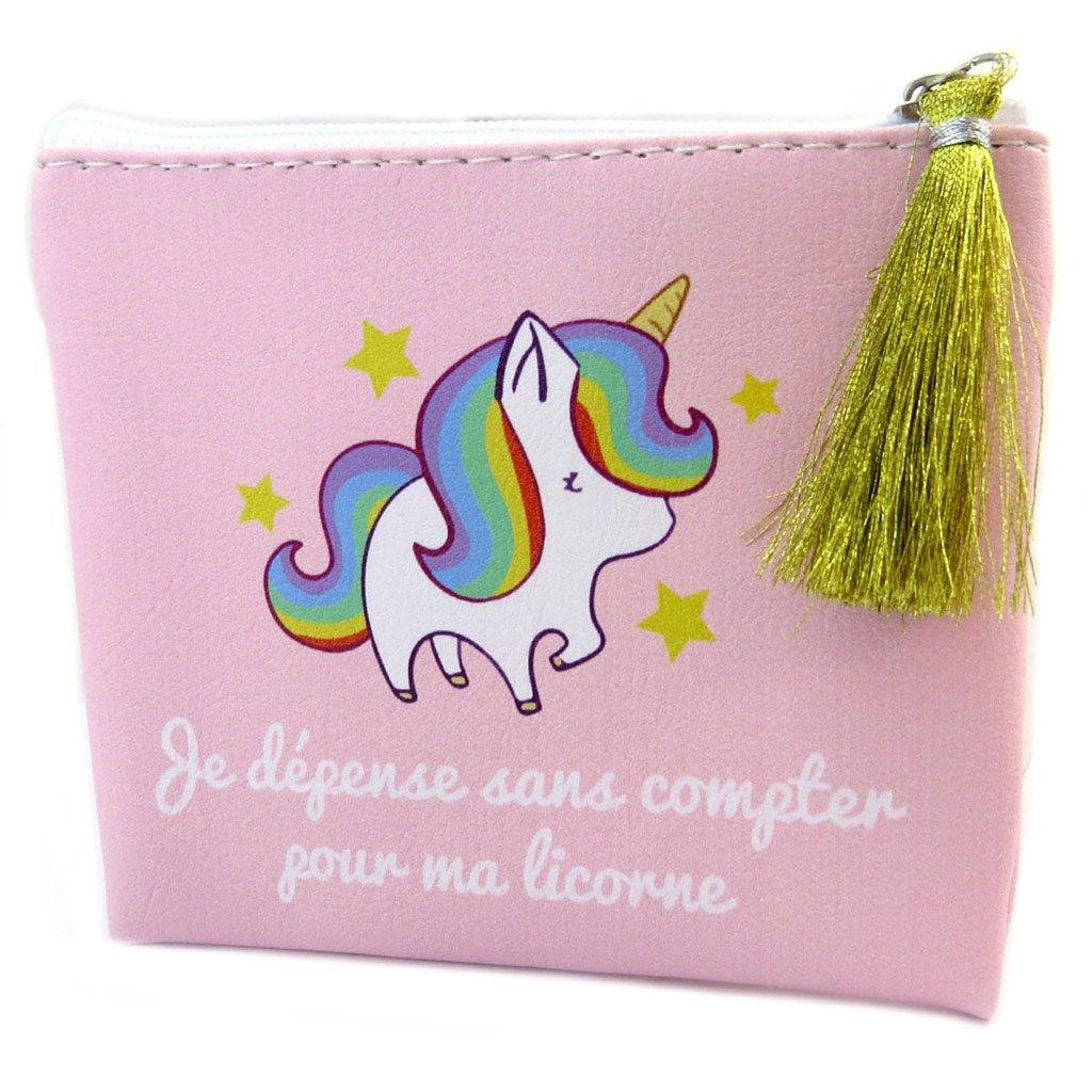 Les Trésors De Lily [P5361] - Porte-monnaie Licorne Mania rose (Je dépense sans compter pour ma licorne) - 22x18. 5 cm 030801LES102017P536100