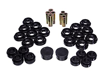 Energy Suspension 8 3133G Control Arm Bushing Set Black Rear