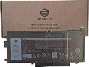 JIAZIJIA K5XWW Laptop Battery Replacement for Dell Latitude 5289 7389 7390 2-in-1 Series Notebook 71TG4 725KY N18GG 7.6V 60Wh 7500mAh 4-Cell