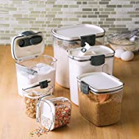 Prepworks by Progressive Flour ProKeeper 6-Piece ProKeeper Set Small White