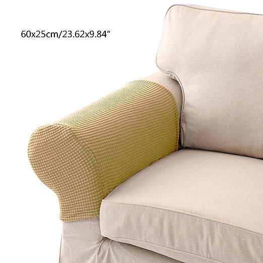 Umiwe Fundas elásticos de reposabrazos y poliéster de spandex para sillones, sofá y silla crema