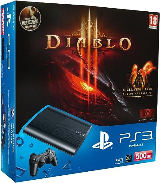 PlayStation 3 - Consola 500 GB + Diablo III + The Last Of Us ...