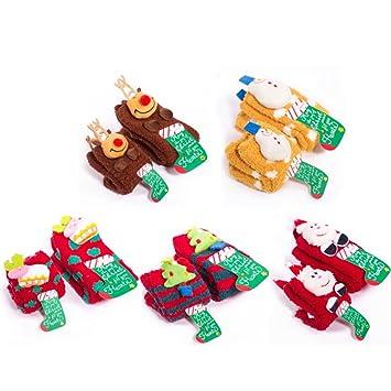 Fascigirl Calcetines de Invierno, 5 Pares de Calcetines de Navidad Calcetines de Sueño 3D de