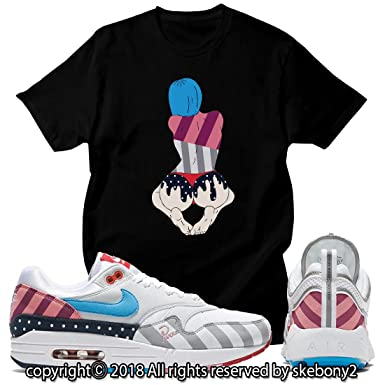 on sale 31e28 230ed Custom T Shirt Matching Parra x Nike Air Max 1 and Spiridon JD-1-
